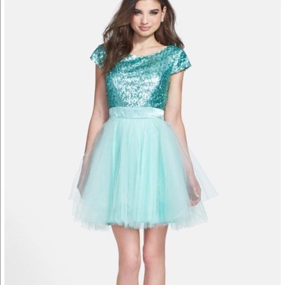 deb49e6cf5a9d Trixxi Girl mint formal dress plus size prom